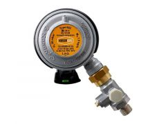 Gasregulator, click-on med testpoint
