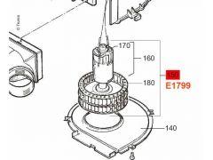 Truma 12 V motor og blæserhjul, TEB-2/TEN-2