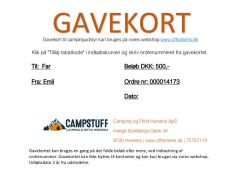 Gavekort cfhorsens.dk