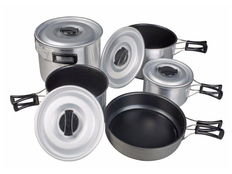 Kampa Din-Din Lightweight Non-Stick Camping Cook Saucepans