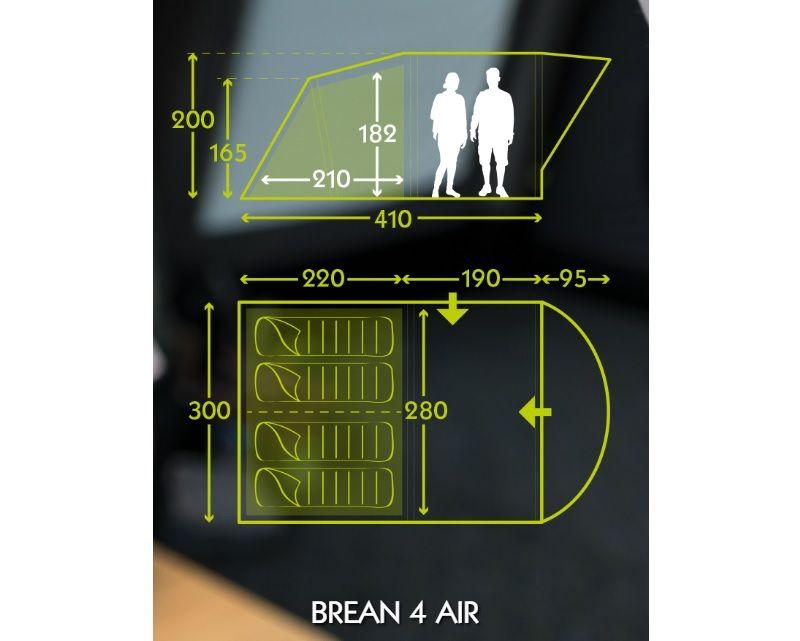 Brean 4 Advantage AIR lufttelt   Campingshop.dk
