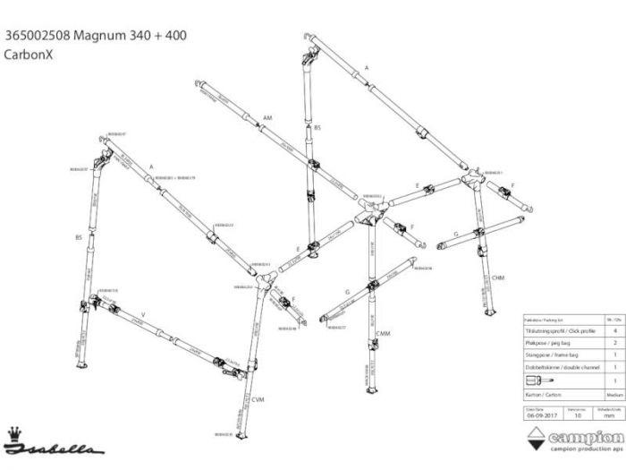 Isabella CarbonX CHM-hjørne m. B-stang Magnum/Minor