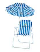 Barnestol med parasol - Blå