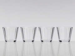 Flamefield, Crystal Line kort glas, 4 stk.