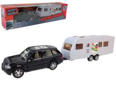 Legetøjsbil med campingvogn