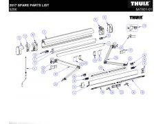 Endestykker front - Thule 5200