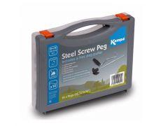 Kampa Steel Screw Peg Pack med pløkoptrækker